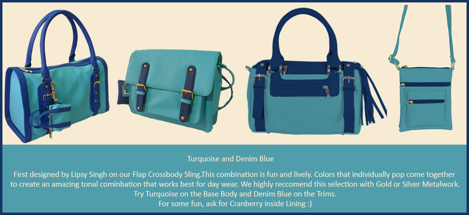 Toteteca Trends Turquoise and Denim Blue