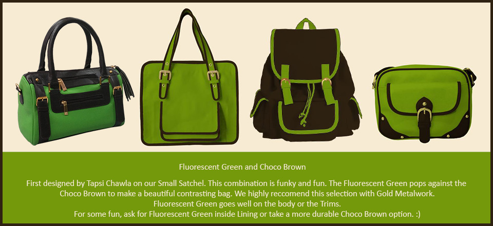 Trend Fluorescent Green with Choco Brown