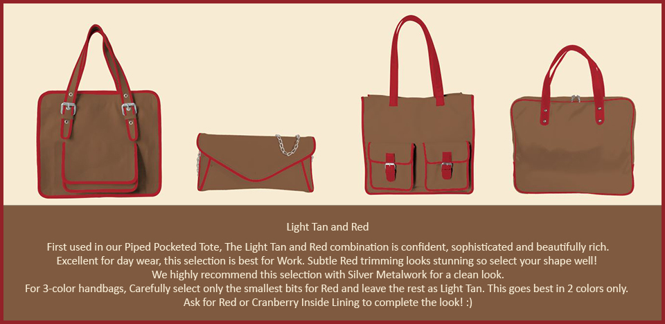 Toteteca Trend Light Tan and Red